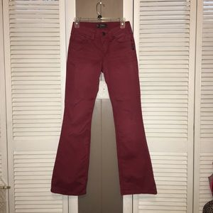 Maroon / Red Flare Jeans